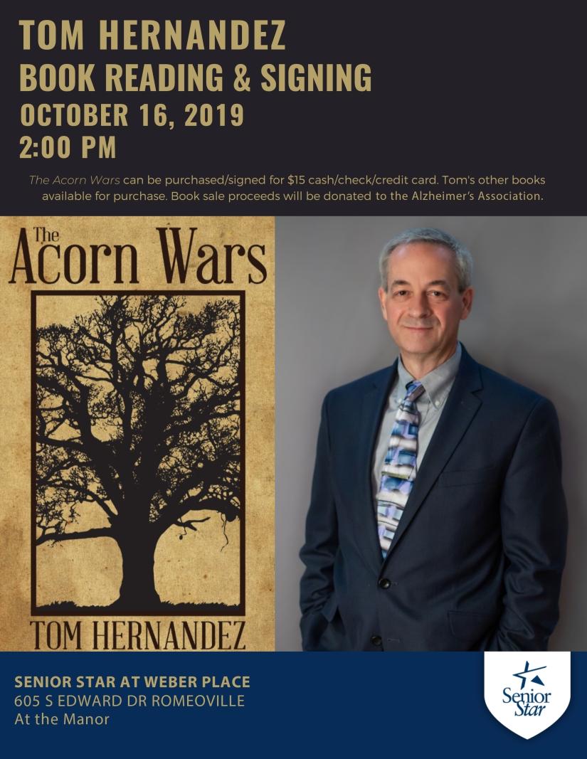 Tom Hernandez Book Signing - 8.5x11 flyer